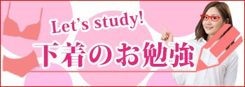 Let's study! 下着のお勉強